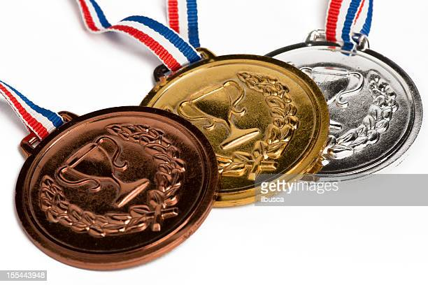 Olympic medals isolated on white