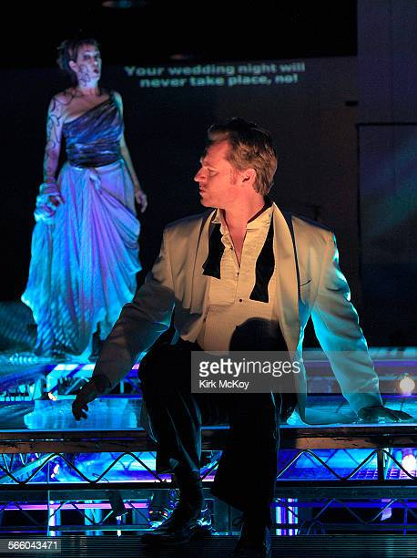 BEACH CA JAN 27 2011––'Medea' and 'Jason' star in Long Beach Opera's production of Cherubini's 'Medea' a classic opera that was favorite of Maria...