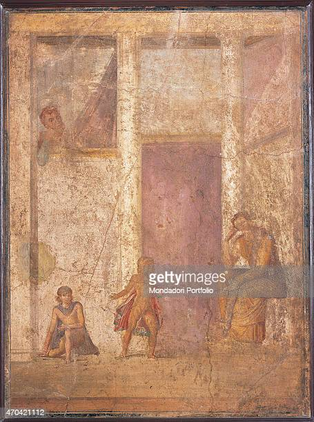 'Medea by unknown artist 2025 1st Century AD ripped fresco 101 x 130 cm Italy Campania Naples National Archaeological Museum Room LXX inv 114321...