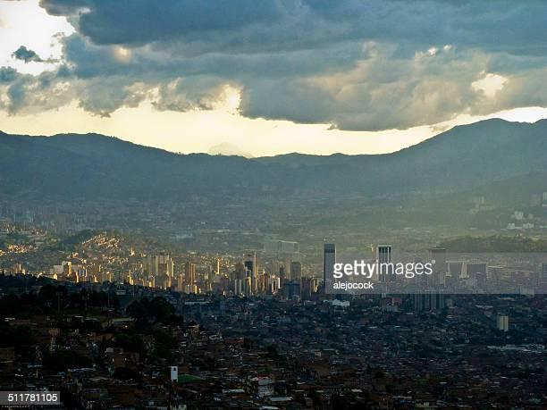 Medellin between mountains