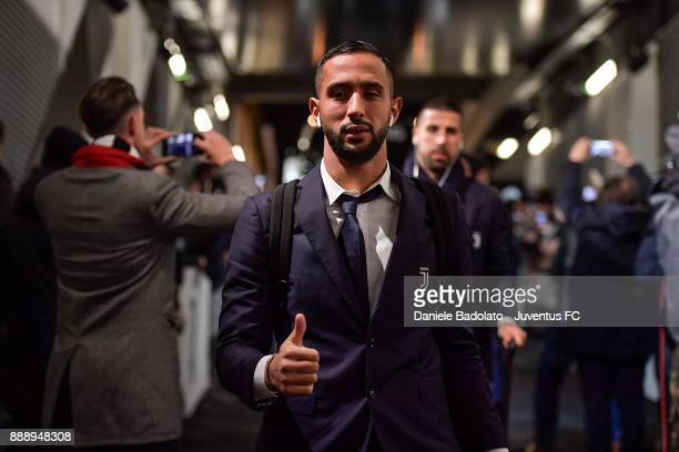 Medhi Benatia of Juventus arrives at Allianz Stadium before the Serie A match between Juventus and FC Internazionale on December 9 2017 in Turin Italy
