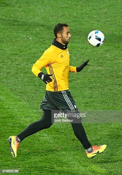 Medhi Benatia of Juventus controls the ball during a Juventus FC training session at AAMI Park on July 25 2016 in Melbourne Australia