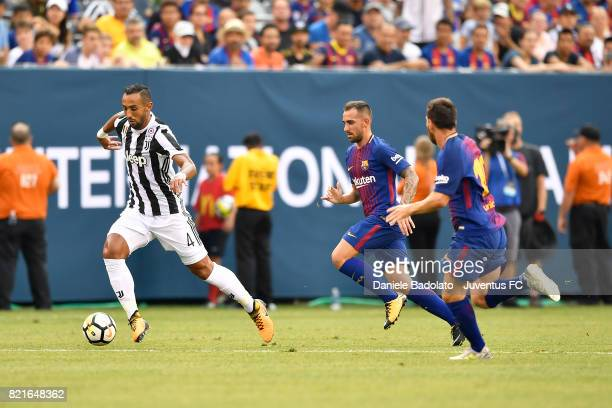 Medhi Benatia of Juventus in action during the International Champions Cup match between Juventus and Barcelona at MetLife Stadium on July 22 2017 in...