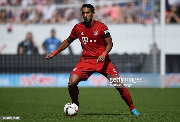 Medhi Benatia of Muenchen controls the ball during the Bundesliga match between 1899 Hoffenheim and FC Bayern Muenchen at Wirsol RheinNeckarArena on...