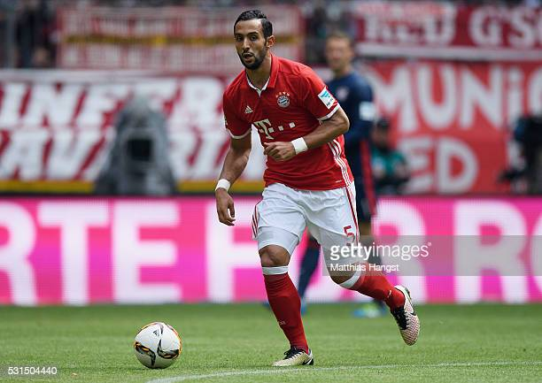 Medhi Benatia of Muenchen controls the ball during the Bundesliga match between FC Bayern Muenchen and Hannover 96 at Allianz Arena on May 14 2016 in...