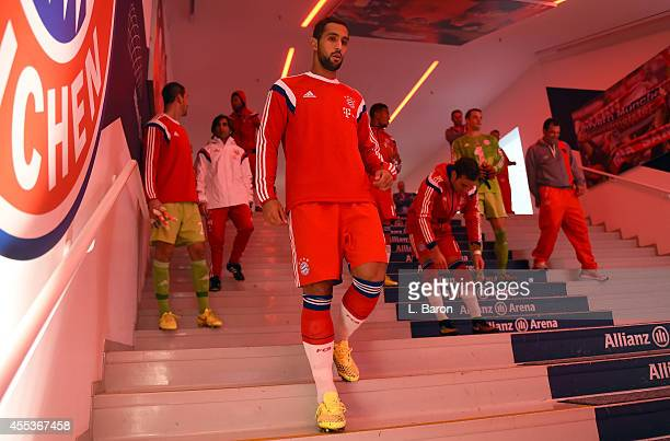 Medhi Benatia of Muenchen is seen prior to the Bundesliga match between FC Bayern Muenchen and VfB Stuttgart at Allianz Arena on September 13 2014 in...