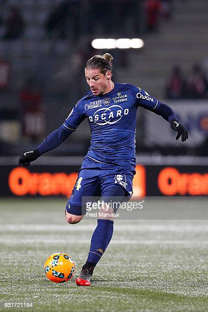 Medhi Mostefa of Bastia during the Ligue 1 match between AS Nancy Lorraine and SC Bastia at Stade Marcel Picot on January 14 2017 in Nancy France