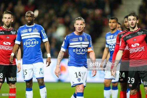 Medhi Mostefa of Bastia during the Ligue 1 match between EA Guingamp and SC Bastia at Stade du Roudourou on March 11 2017 in Guingamp France