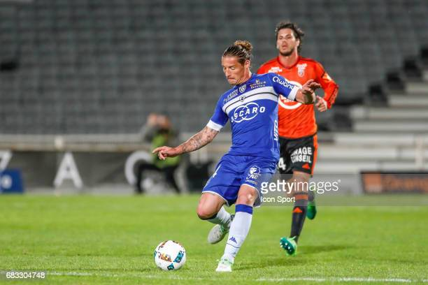 Medhi Mostefa of Bastia during the Ligue 1 match between SC Bastia and FC Lorient on May 14 2017 in Istres France