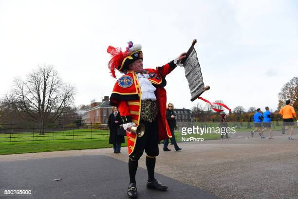 Media and people gathered outside Kensington Palace for the announcement of Prince Harry's engagement with American Actress Meghan Merkle in London...