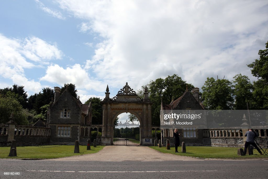 Media are seen outside a gated entrance to St Mark's Church ahead of the Wedding of Pippa Middleton and James Matthews on May 19, 2017 in Englefield, Berkshire.