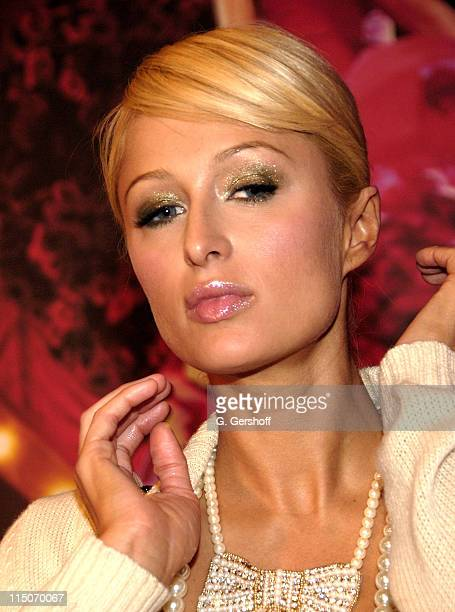 Media celebrity Paris Hilton unveils her new fragrance 'Can Can Paris Hilton' at Macy's Roosevelt Field on November 13 2007 in Garden City Long Island