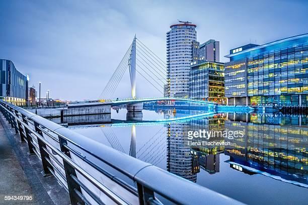 Media city and suspension bridge
