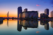 Media City at twilight