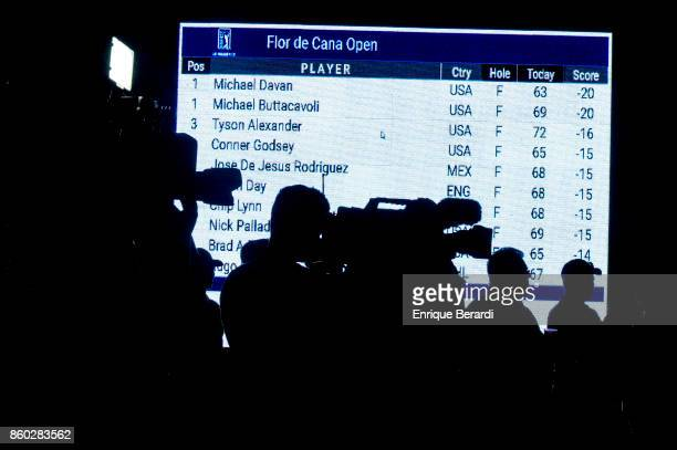 Media during the final round of the PGA TOUR Latinoamérica Flor de Cana Open at Mukul Beach Golf and Spa on September 3 2017 in Tola Nicaragua