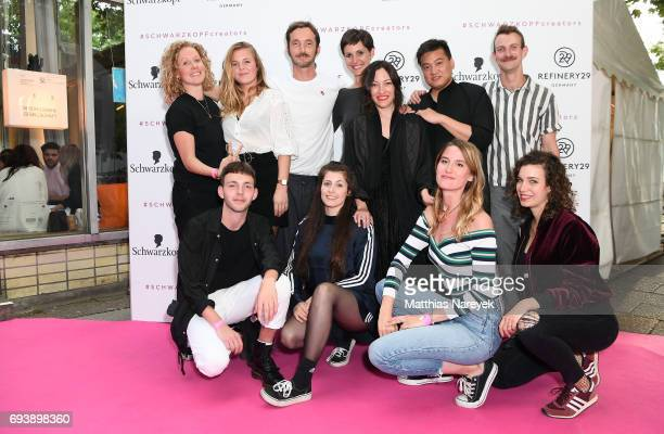 Media employees attend the Schwarzkopf x Refinery29 event at Bar Babette on June 8 2017 in Berlin Germany