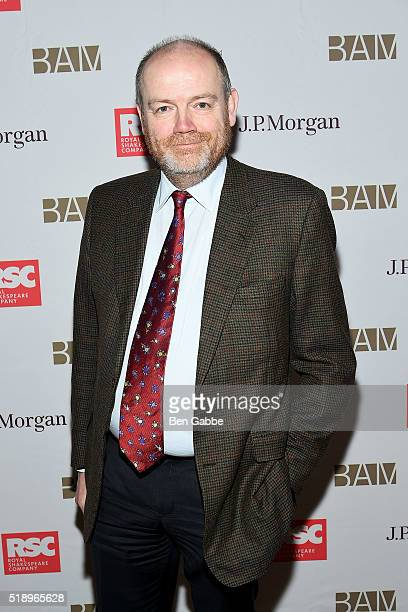 Media executive Mark Thompson attends the Benefit Celebration Honoring Royal Shakespeare Company's 'King Country' at BAM Lepercq Space on April 3...