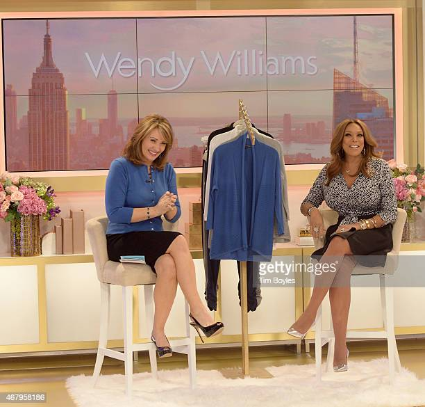 Media Icon Wendy Williams launches her apparel collection at the HSN studios with HSN Host Colleen Lopez on March 28 2015 in St Petersburg Florida