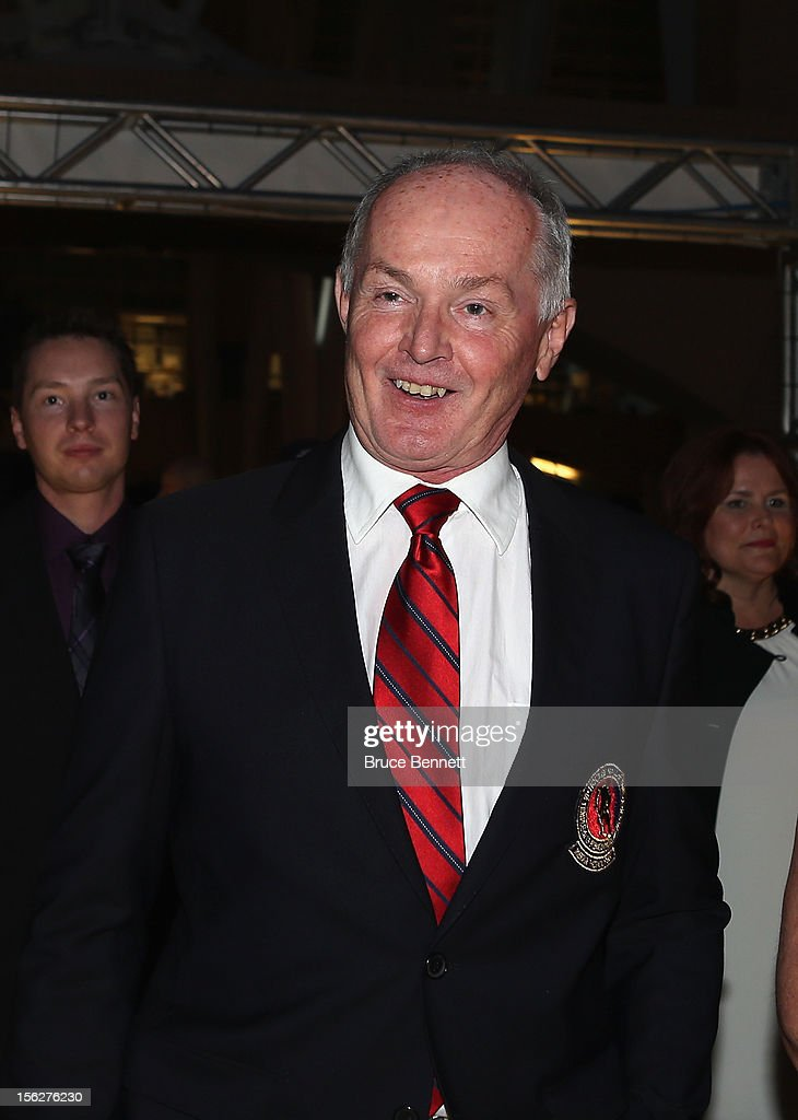 Media inductee Roy MacGregor arrives for the Hockey Hall of Fame induction ceremony at Brookfield Place on November 12, 2012 in Toronto, Canada.
