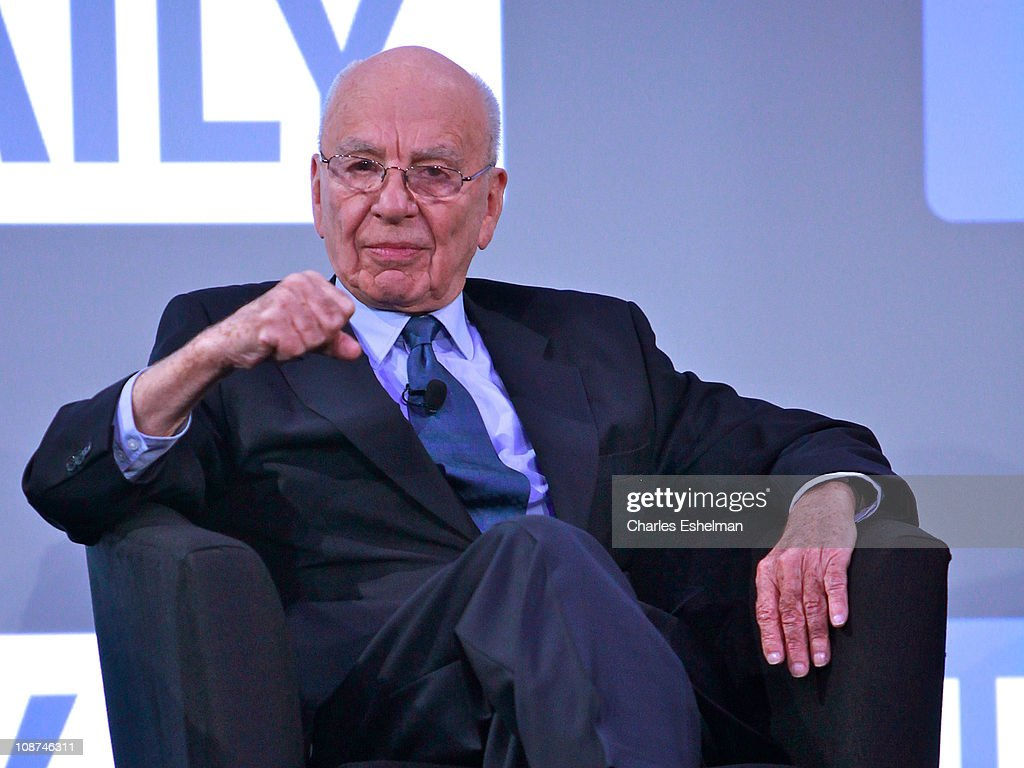 Media magnate <a gi-track='captionPersonalityLinkClicked' href=/galleries/search?phrase=Rupert+Murdoch&family=editorial&specificpeople=160571 ng-click='$event.stopPropagation()'>Rupert Murdoch</a> attends the launch of 'The Daily' at the Solomon R. Guggenheim Museum on February 2, 2011 in New York City.