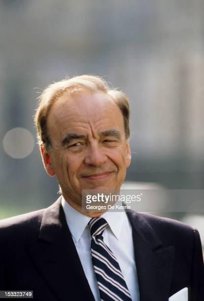 Media magnate Rupert Murdoch in UK on July 1989