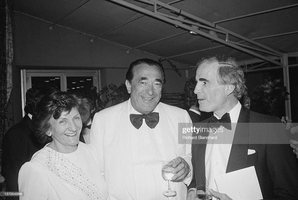 Media mogul Robert Maxwell (1923 - 1991)at the Cannes Film Festival, France, with his wife Elizabeth, May 1987.