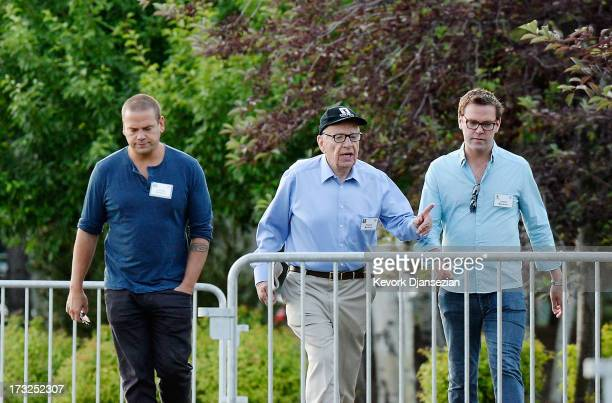 Media mogul Rupert Murdoch executive chairman of News Corporation and chairman and CEO of 21st Century Fox James Murdoch son of Rupert Murdoch and...
