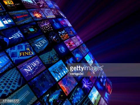 concept de médias, actualités