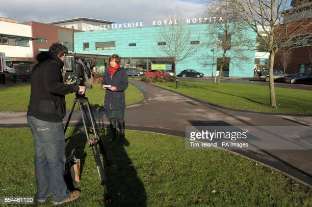 Media outside the Gloucestershire Royal Hospital in Gloucester where Zara Phillips gave birth to a baby daughter her first child early this morning...