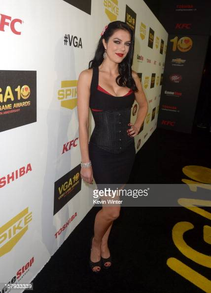 Media personality Adrianne Curry arrives at Spike TV's 10th annual Video Game Awards at Sony Studios on December 7 2012 in Culver City California