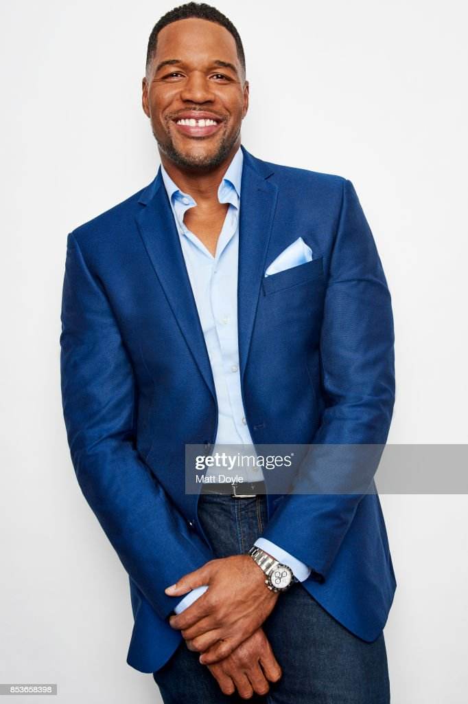 Media personality and former American football defensive end Michael Strahan poses for a portraits at the Tribeca TV festival at Cinepolis Chelsea on September 22, 2017.