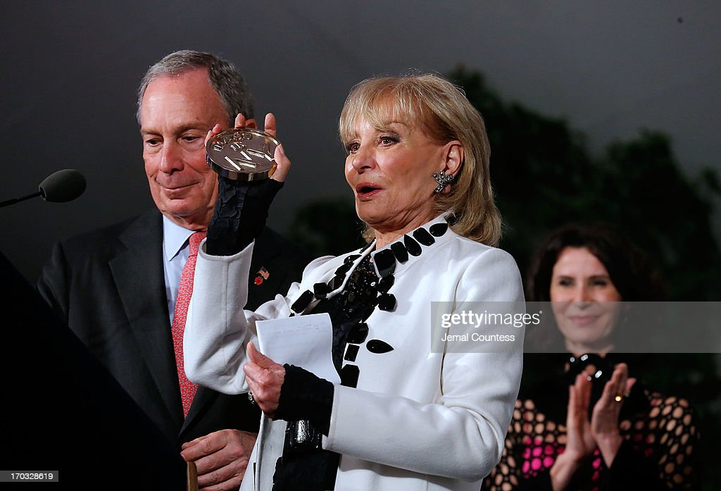 Media personality <a gi-track='captionPersonalityLinkClicked' href=/galleries/search?phrase=Barbara+Walters&family=editorial&specificpeople=201871 ng-click='$event.stopPropagation()'>Barbara Walters</a> receives her 'Made In NY Award' at the 8th Annual 'Made In NY Awards' at Gracie Mansion on June 10, 2013 in New York City.