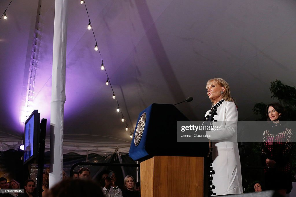 Media personality <a gi-track='captionPersonalityLinkClicked' href=/galleries/search?phrase=Barbara+Walters&family=editorial&specificpeople=201871 ng-click='$event.stopPropagation()'>Barbara Walters</a> speaks after receiving her 'Made In NY Award' at the 8th Annual 'Made In NY Awards' at Gracie Mansion on June 10, 2013 in New York City.