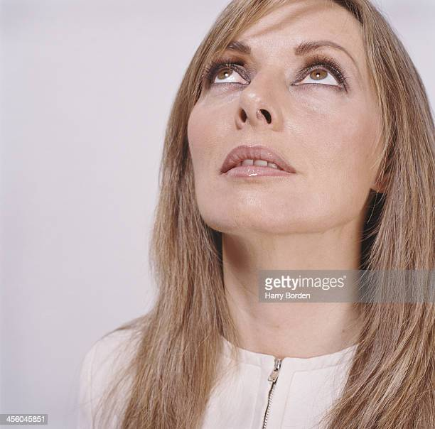 Media personality Carol Voderman is photographed for Saga magazine on September 11 2004 in London England