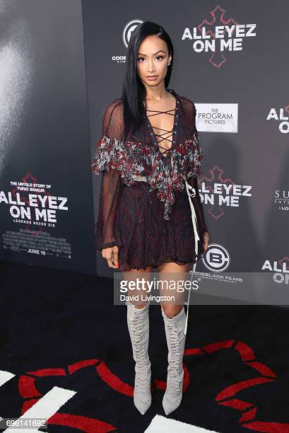Media personality Draya Michele attends the premiere of Lionsgate's 'All Eyez On Me' on June 14 2017 in Los Angeles California