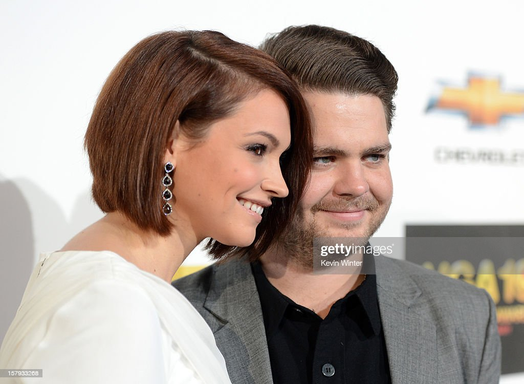 Media personality Jack Osbourne (R) and Lisa Stelly arrive at Spike TV's 10th annual Video Game Awards at Sony Pictures Studios on December 7, 2012 in Culver City, California.