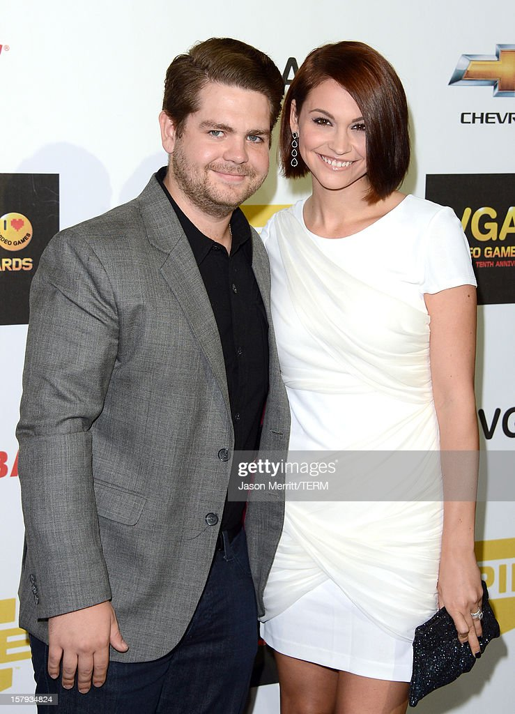 Media personality <a gi-track='captionPersonalityLinkClicked' href=/galleries/search?phrase=Jack+Osbourne&family=editorial&specificpeople=202112 ng-click='$event.stopPropagation()'>Jack Osbourne</a> (L) and Lisa Stelly arrive at Spike TV's 10th annual Video Game Awards at Sony Pictures Studios on December 7, 2012 in Culver City, California.