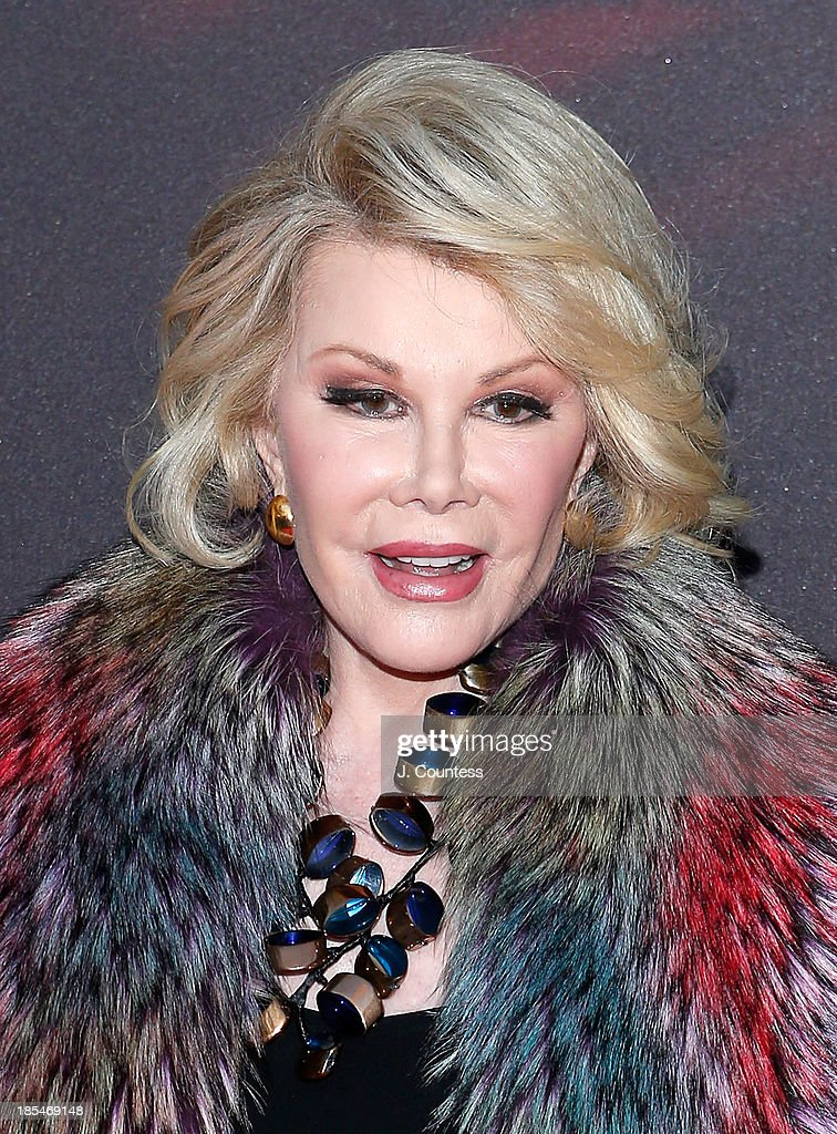 Media personality <a gi-track='captionPersonalityLinkClicked' href=/galleries/search?phrase=Joan+Rivers&family=editorial&specificpeople=159403 ng-click='$event.stopPropagation()'>Joan Rivers</a> attends the Broadway opening night of 'A Time To Kill' at The Golden Theatre on October 20, 2013 in New York City.