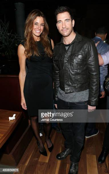 Media personality Kelly Bensimon and actor Dylan McDermott attend the Baron Tequila Launch Party at Butter Restaurant on November 19 2013 in New York...