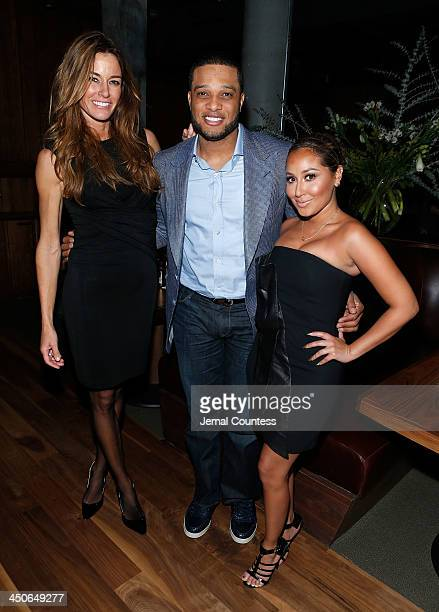 Media personality Kelly Bensimon New York Yankee Robinson Cano and actress/singer Adrienne Bailon attend the Baron Tequila Launch Party at Butter...