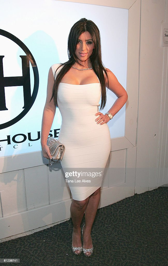 Media Personality Kim Kardashian attends the 2008 White Party at Whitehouse May 25 2008 in Hampton Bays New York
