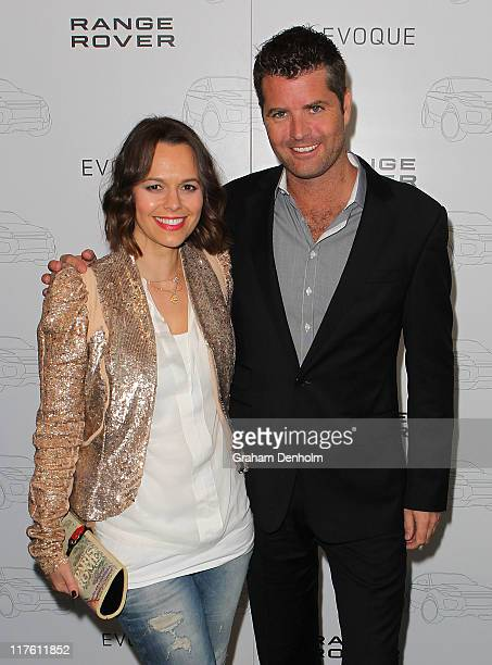 Media personality Mia Freedman and Chef Peter Evans attend the launch of the Range Rover Evoque on June 29 2011 in Melbourne Australia