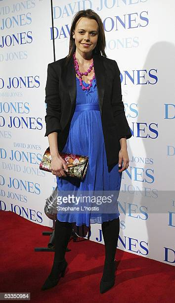 Media personality Mia Freedman attends the David Jones summer 2005 collections launch at the W Hotel on August 10 2005 in Sydney Australia