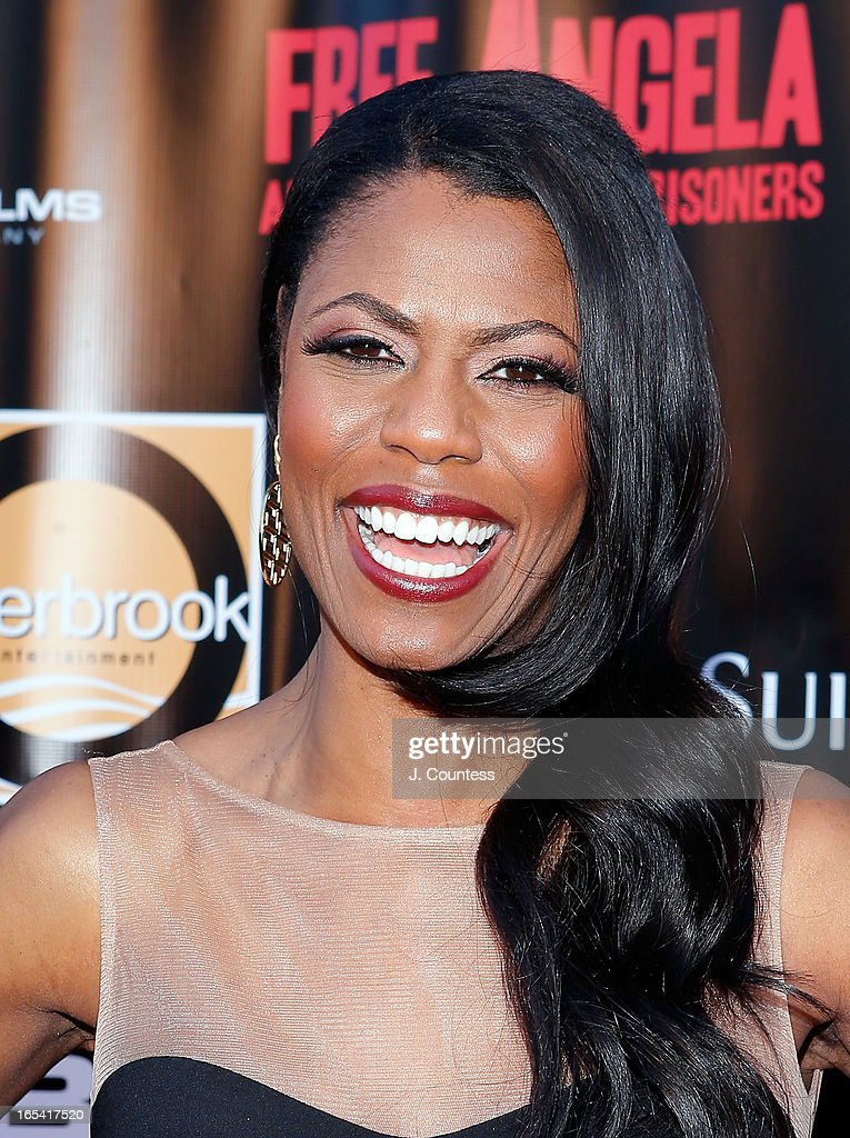 Media personality Omarosa Manigault attends the 'Free Angela and All Political Prisoners' New York Premiere at The Schomburg Center for Research in Black Culture on April 3, 2013 in New York City.