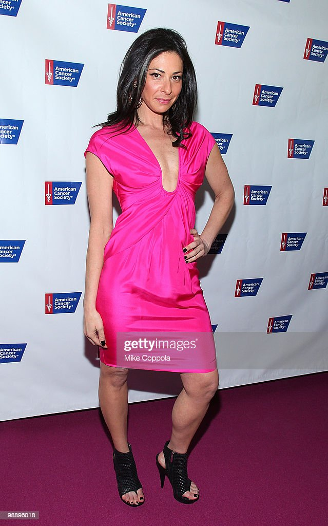 Media personality Stacy London attends The American Cancer Society's 2010 Pink and Black Tie Gala at Steiner Studios on May 6 2010 in the Brooklyn...