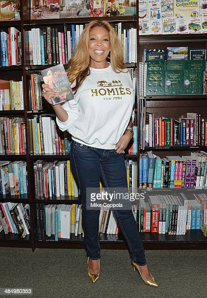 Media personality Wendy Williams promotes the new book 'Hold Me In Contemept A Romance' at Barnes Noble Tribeca on April 15 2014 in New York City