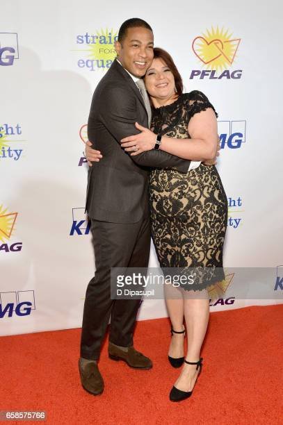 Media presenter Don Lemon and Media Honoree Ana Navarro attend the ninth annual PFLAG National Straight for Equality Awards Gala on March 27 2017 in...