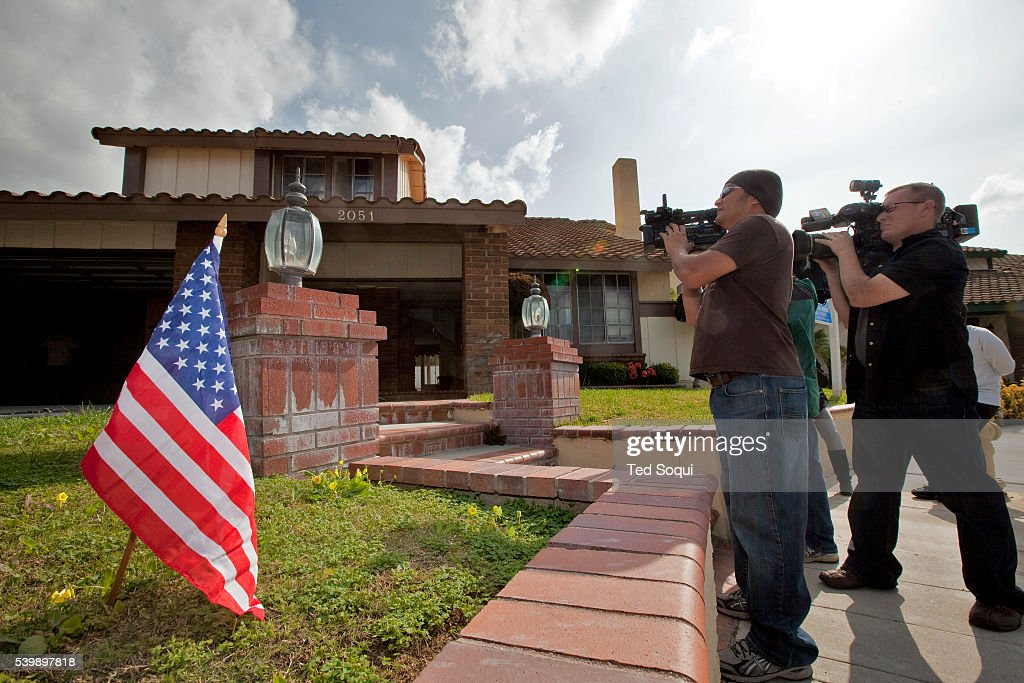 Media record events outside the new home for Nadia Suleman mother of octuplets and her family Her new La Habra home will have four bedrooms and three...