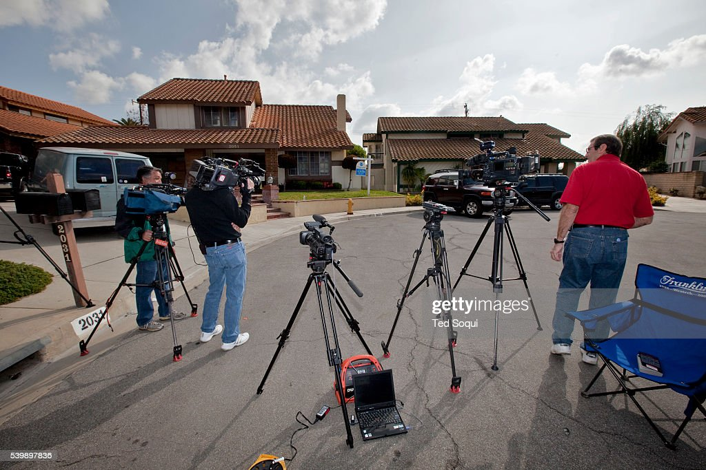 Media set up outside the new home for Nadia Suleman mother of octuplets and her family Her new La Habra home will have four bedrooms and three...