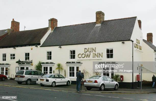 Media stand outside the Dun Cow Inn Sedgefield after Security officers have covered the area amid speculation British Prime Minister Tony Blair and...